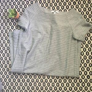 Uniqlo Gray Textured Swing Dress